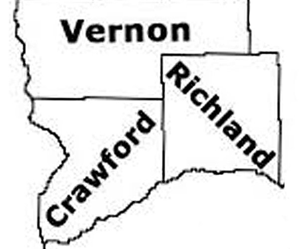Crawford, Vernon and Richland counties