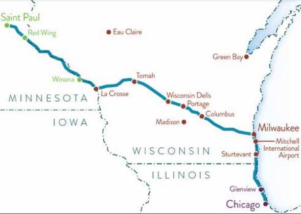twin cities milwaukee chicago rail