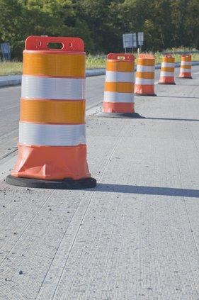 Traffic Barrels road work