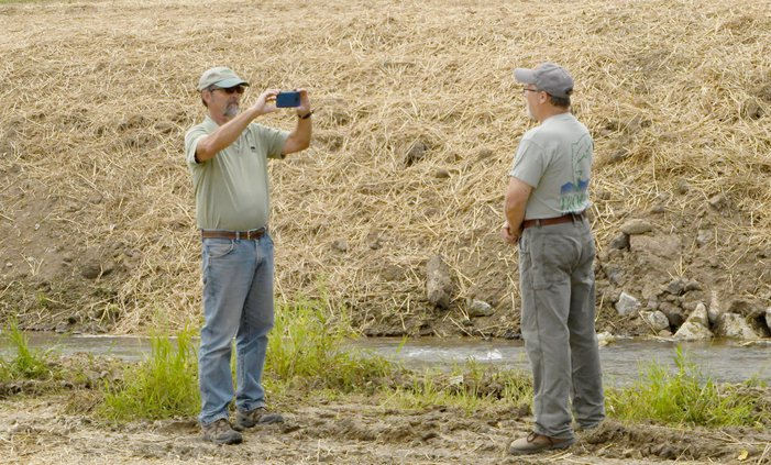Jeff Hastings and Paul Krahn at Citron Creek project site