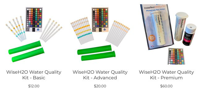 Wise H2O water chemistry kits