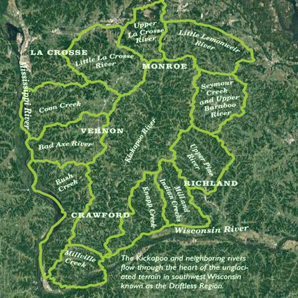 Watersheds of the Driftless