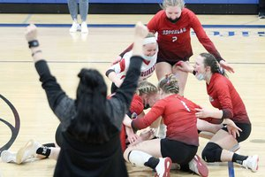 brodhead volleyball celebration