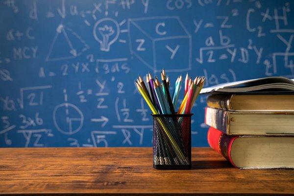 teacher classroom abc stock