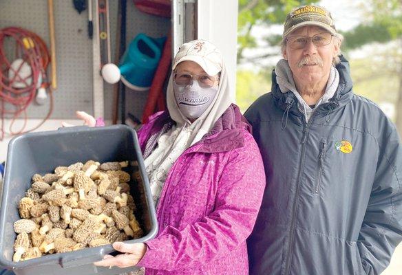 Valentine's with morel mushrooms