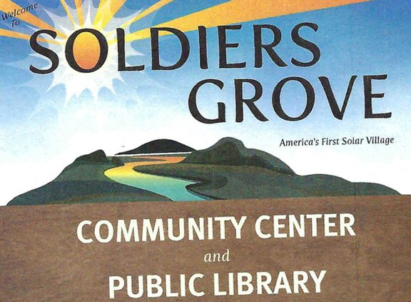 New Soldiers Grove Community Center sign