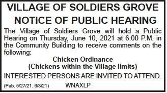 SG chicken hearing notice