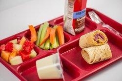 school lunch stock