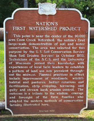 Coon Creek Watershed Project sign