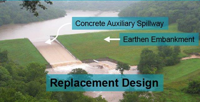Design plans for rebuilt Jersey Valley Dam