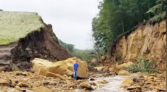 Breached Luckasson Dam