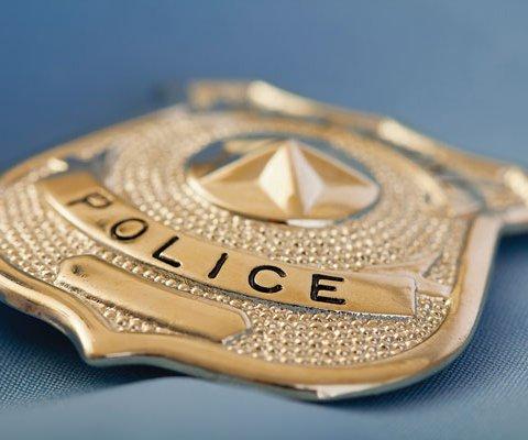 Police Badge - Stock Image