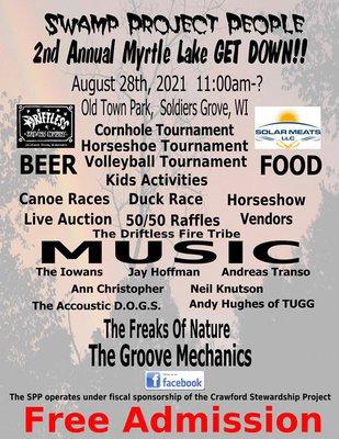 Myrtle Lake 2021 'Get Down' fundraiser