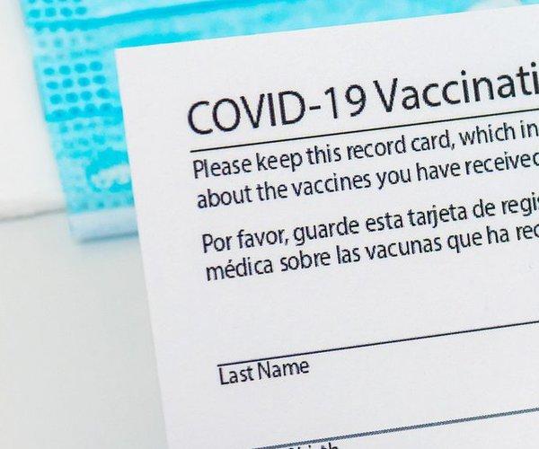 covid vaccine card stock