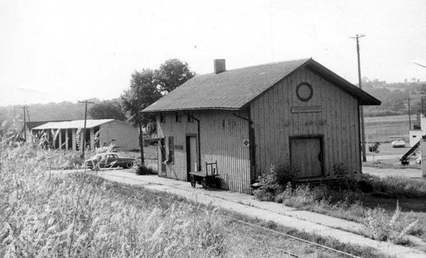 This photo of the Browntown depot, taken several decades after James Michael's incident, is from the collection of the late William Miller.