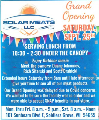Solar Meats grand opening